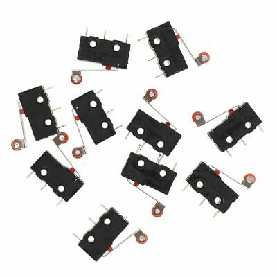 10 Pcs Mini Micro Limit Switch Roller Lever Arm SPDT Snap Action LOT I9T8