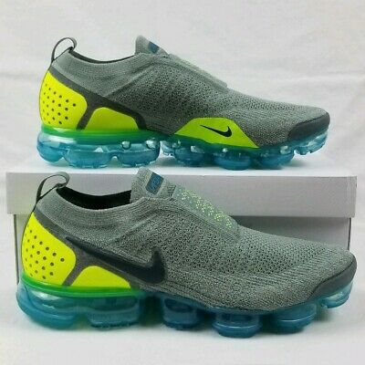 Nike Air VaporMax Flyknit Moc 2 Running Shoes Men's Sz 12 Mica Green AH7006-300