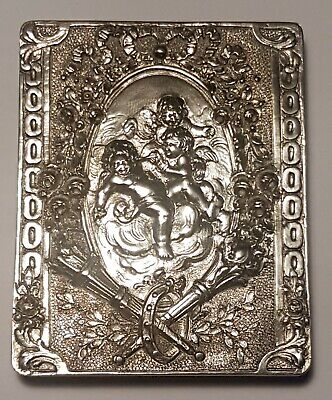 Antique German Hanau 800 Solid Silver Cigarette Box/Tobacco / Trinket Case Snuff