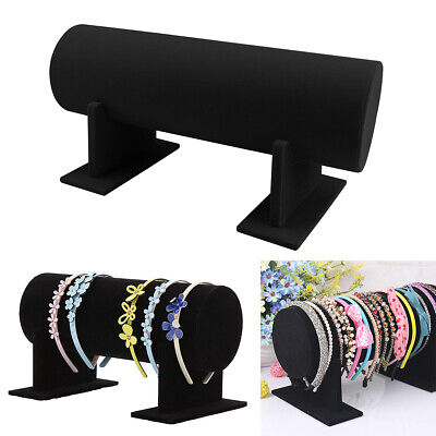 Velvet Black Red 35cm Hair Band Headband Holder Retail Shop Display Stand Rack