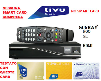 TIVUSAT DECODER SUNRAY 800SE HDMI come DREAMBOX TVSAT