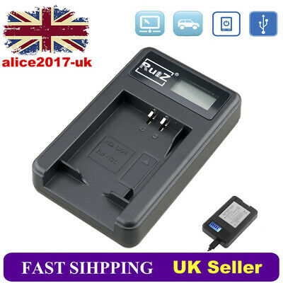 Battery Charger For Canon NB-13L PowerShot G5X G7X G9X MARK II SX720 HS SX620