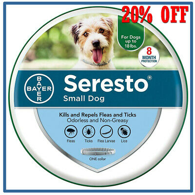 Seresto² Flea and Tick 8 Month Collar for Small Dogs up to 18 lbs Exp. VL