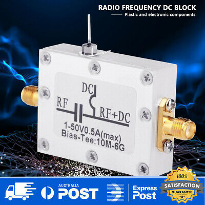 RF blocker biaser coaxial feed Broadband Bias Tee 10MHz-6GHz low insertion loss