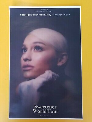 Ariana Grande 11x17 sweetener world tour promo tour poster tickets shirt lp