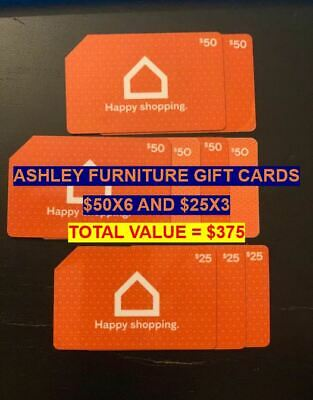 Ashley Furniture Gift Cards Total Value $375