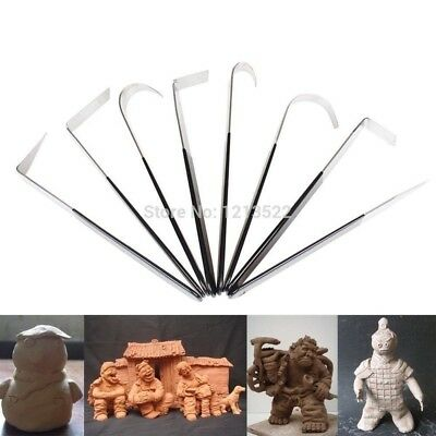 Set of 8 Pottery Wheel Tool Ceramic tools/Polymer clay/Craft/trimming Sculpting