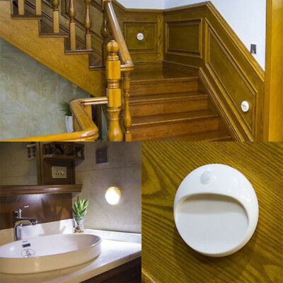 LED PIR Motion Sensor Lamp Light Indoor Wall Stair Shed Bathroom Battery Powered