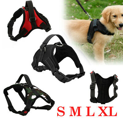 Control Large Dog Pulling Harness Adjustable Support Comfy Pet Training S M L XL