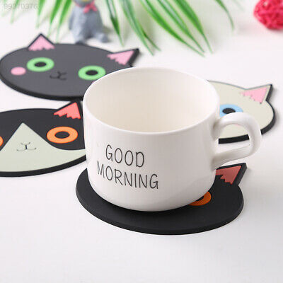 66A0 Cute Lovely Kitten Cat Coasters Anti-skidding Heat Insulation Official Cup