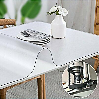 Clear Plastic Table Cloth Cover PVC Waterproof Table Protector Tablecloth 2mm UK