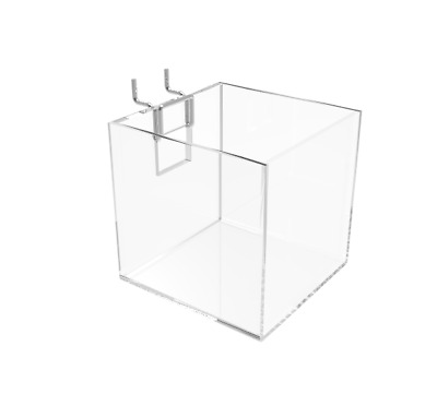 Acrylic Brochure Holder Small Candy Bin Dump Cube Gridwall Countertop Candy Bin