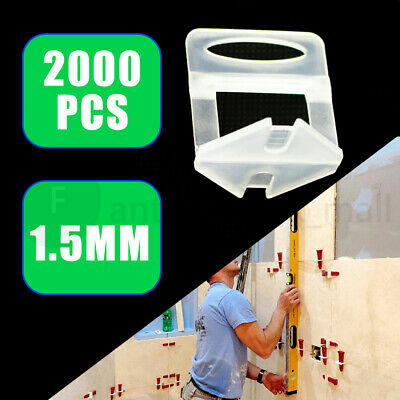 2000X 1.5 Tile Leveling System Clips Levelling Spacer Tiling Tool Floor Wall  AU