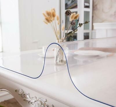 Clear Table Cover Protector 2mm Thick PVC Soft Transparent Dining Table Pad UK