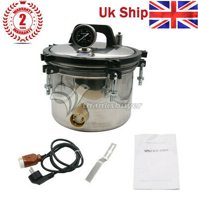 12L Pressure Steam Sterilizer Autoclave Anti-Burning Dual Heating High Pressure
