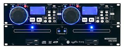 Platine Double Lecteur CD DJ PA USB Mp3 SD Card Sono Effets Pitch Loop Jogwheels