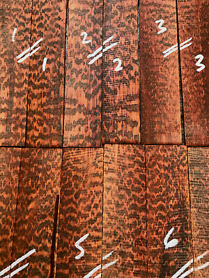 Snakewood bookmatched razor scale / knife scale / inlay sets 2mm SPECIAL GRADE