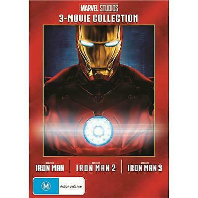 Iron Man - 3 MOVIE COLLECTION  ( R4 DVD,  3-Disc Set)