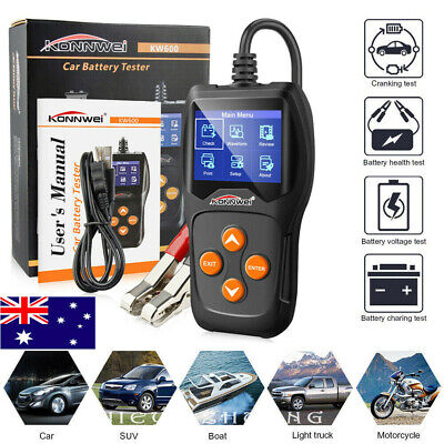 AU 12V Car Battery Tester KONNWEI KW600 Digital Auto Vehicle Battery Analyzer