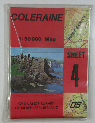 1980 Old OS Ordnance Survey N Ireland 1:50 000 Discoverer Series Map 4 Coleraine