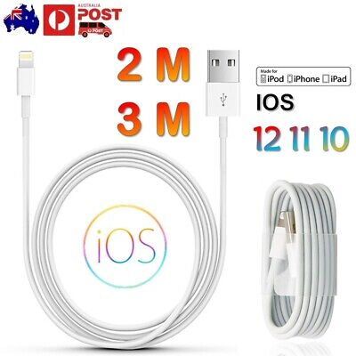 USB Lightning Charging Cable Data for Genuine Apple Charger iPhone iPad X XS 8 7