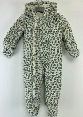 Baby Boys MotherCare Snowsuit Warm Animal Print Age 9-12 Months