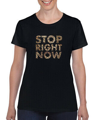 STOP RIGHT NOW  T-Shirt Girl Power Baby Sporty Scary Ginger Spice Girls Tee Top