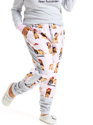 Peter Alexander French Penny Dog Legwarmer PJ Pants, Size M, new with tags
