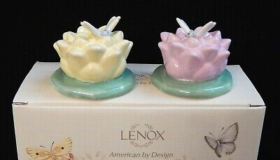 NEW Dragonfly Salt & Pepper Shakers Lenox Butterfly Meadow Sculptured Details