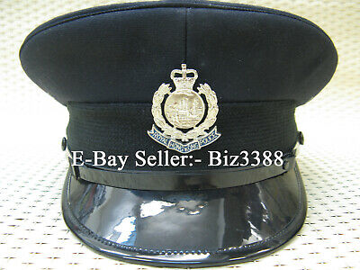 Genuine British Colonial Royal Hong Kong Police Inspector Visor Cap with Badge