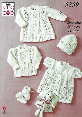 """""""COPY""""  King Cole-5359 Baby Clothes Knit Pattern  36-56 cm / 14-21 in  8 Ply"""