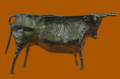 Very Interesting Old Cubist Bronze Bull - Picasso - Bronze Sculpture Statue Gift