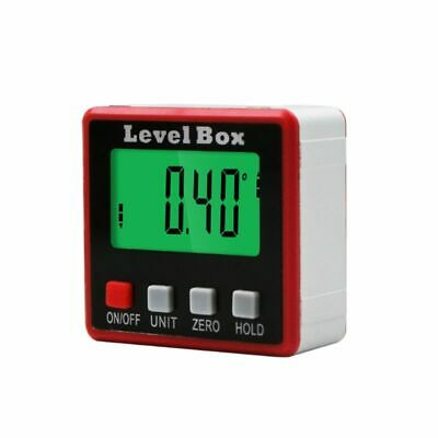 Digital Protractor Inclinometer Level Box Angle Finder Bevel Box w/ Magnet Base