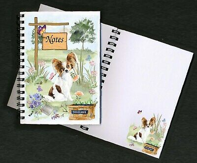 Papillon Butterfly Dog Notebook/Notepad + small image on every page by Starprint