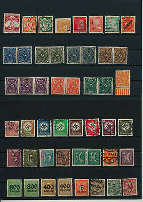 Germany, Deutsches Reich, Nazi, liquidation collection, stamps, Lot,used (CM 8)