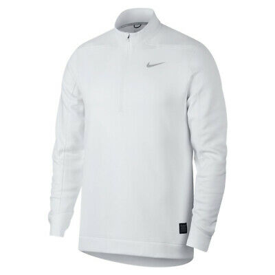 c05fa73be New 2019 Nike Therma Repel Top Half Zip Golf Pullover White/Flat Silver X-