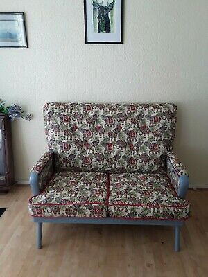 Mid-Century American 2 Seater Sofa with Flip Out Trays