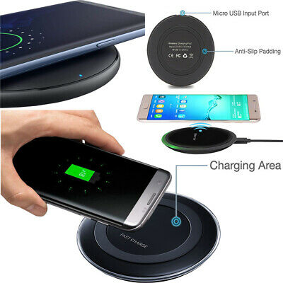 Luxury Qi Fast Wireless Charger Charging Pad For Apple iPhone XS Max XR 8 Plus