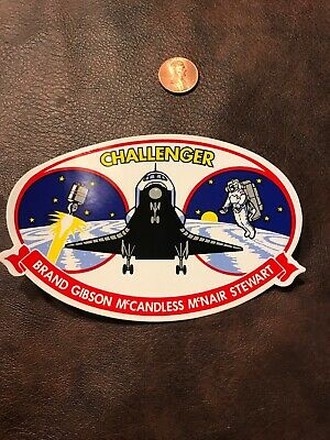 NASA Space Shuttle Challenger Mission STS 41B Sticker Decal Brand Gibson McNair