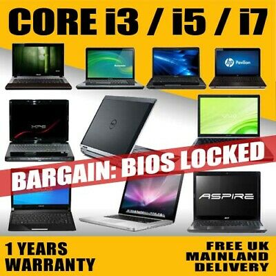 FAST CHEAP CORE i3/ i5/ i7 LAPTOP HP/LENOVO/DELL/TOSHIBA WINDOWS 7/10 BIOSLOCKED