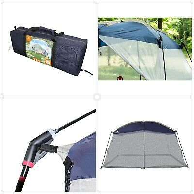 Large Outdoor Screen Mesh Tent Camping Cover Blue Insect Bug Protection Portable