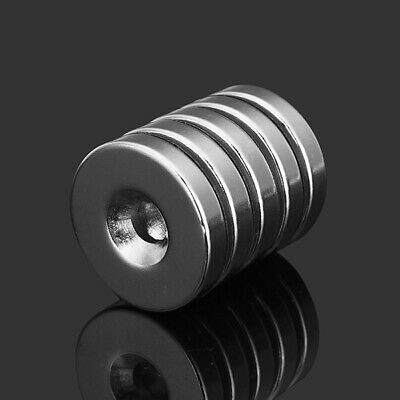 5pcs N35 Strong Disc Neodymium Magnets 25mm X 5 mm Round Ndfeb Magnets With 6mm