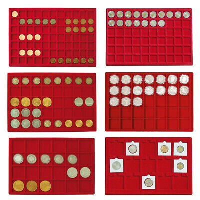 New LINDNER Red velour coin tray for coin storage & display - Choice of formats