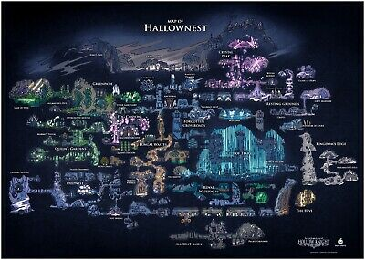 Hollow Knight Hallownest Map Large Poster Art Print A0 A1 A2 A3 A4 Maxi