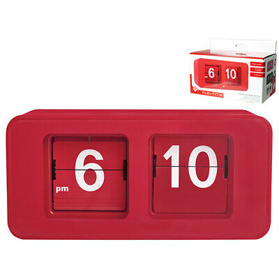 HOME Clock Table Dig Flip Flop Red Clock And Alarm Clock
