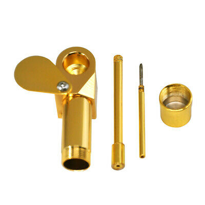 New Solid Metal Brass Tobacco Smoking Proto Golden Pipe Storage Cylinder Chamber
