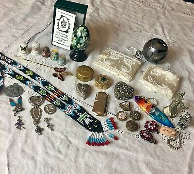 33 Pc Assorted Vintage Collectibles Lot Reed & Barton Brighton And More!