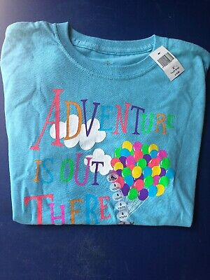 Disney Parks Pixar UP The Adventure Is Out There Ballons & Doug Youth S T Shirt