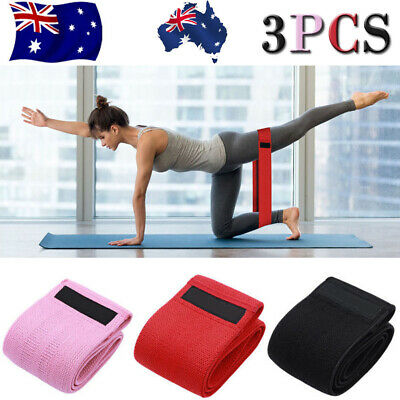 3 Resistance Workout Stretch Band Fitness Gym Excercise Strength Building Yoga A