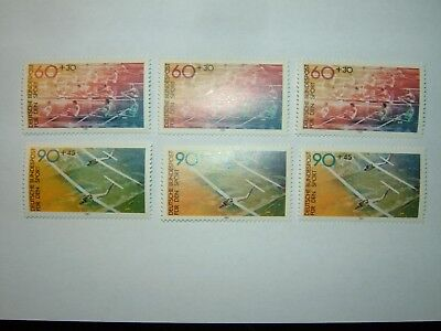 1981 WEST GERMANY SPORT PROMOTION FUND STAMPS x 6 MNH (sg1958/9) CV £11